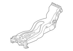 2017 Honda RIDGELINE SEDAN Duct, Console 83425-T6Z-A00