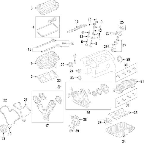 ENGINE Parts for 2004 Saturn Vue