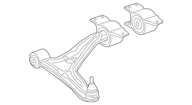 2019-2020 Mercedes-Benz A 220 Lower Control Arm 247-330-76