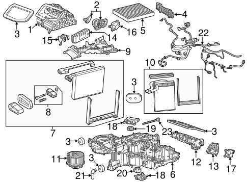 Condenser, Compressor & Lines for 2020 Chevrolet Silverado
