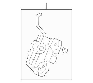 Honda Latch Assembly, L Rear Door Power (72650-SWA-A01