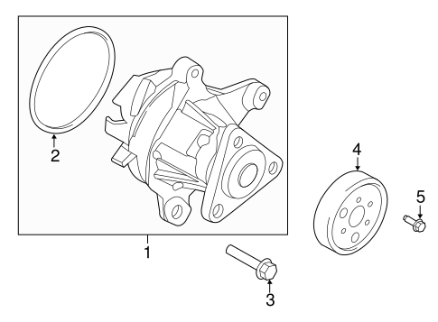 WATER PUMP for 2015 Ford Fusion