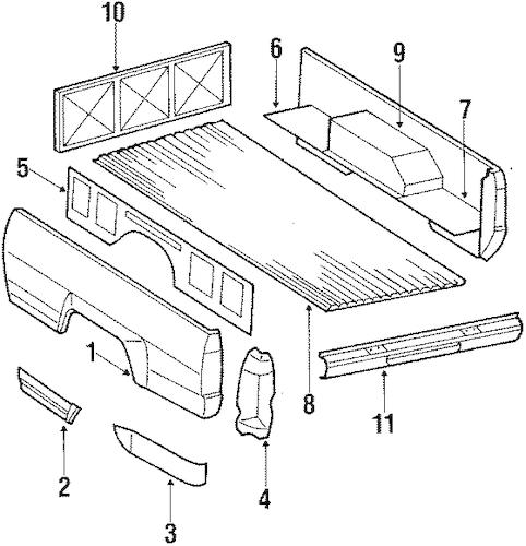Genuine OEM Box Assembly Parts for 1986 Toyota Pickup SR5