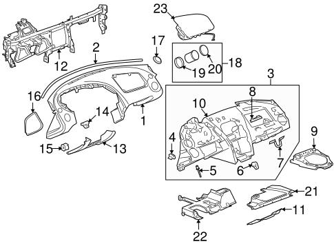 OEM 2007 Pontiac Solstice Instrument Panel Parts