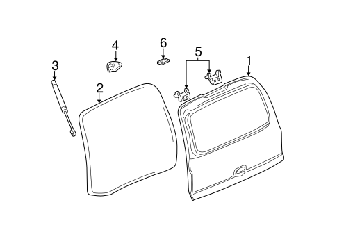 LIFTGATE Parts for 2004 Chevrolet Tahoe