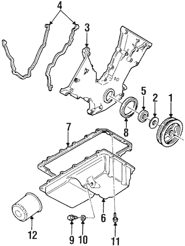 ENGINE PARTS for 1996 Lincoln Mark VIII