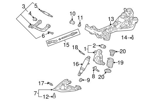 OEM 2005 Buick Terraza Rear Suspension Parts