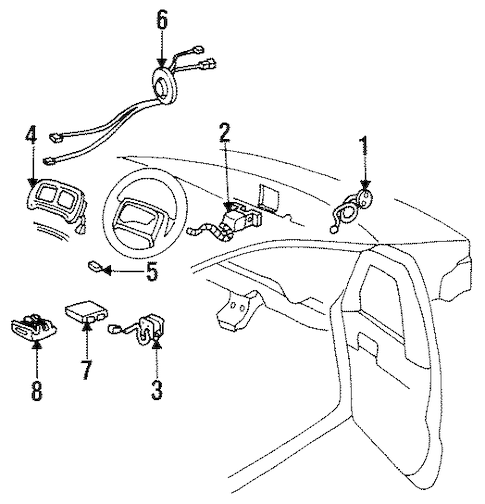 Pontiac Trans Sport Connector 1994-1996