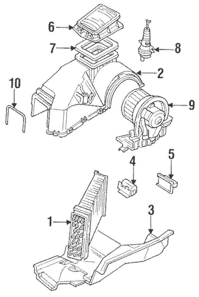 1993-2010 Volkswagen AC & Heater Case Upper Seal 1H0-819