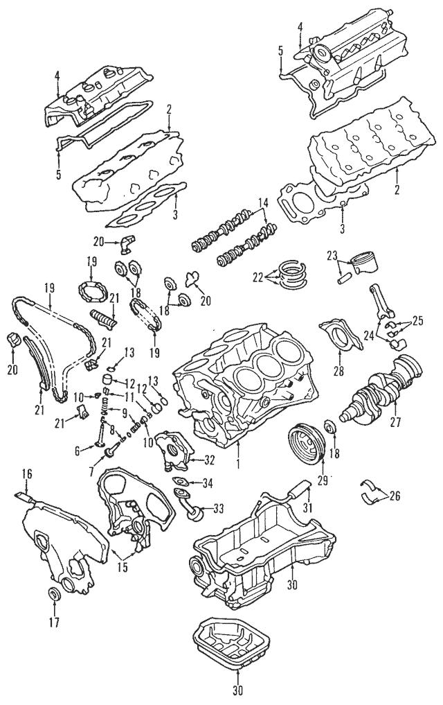 1995-2001 Nissan Maxima Crankshaft Pulley 12303-31U1A