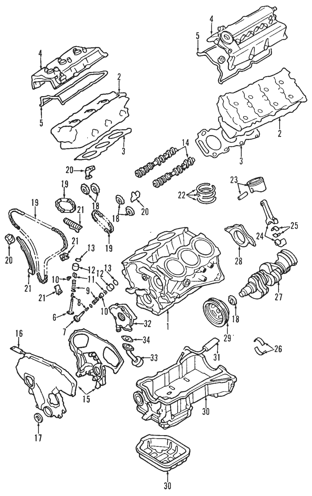 Genuine Nissan Engine Timing Chain Tensioner 13070-31U0A