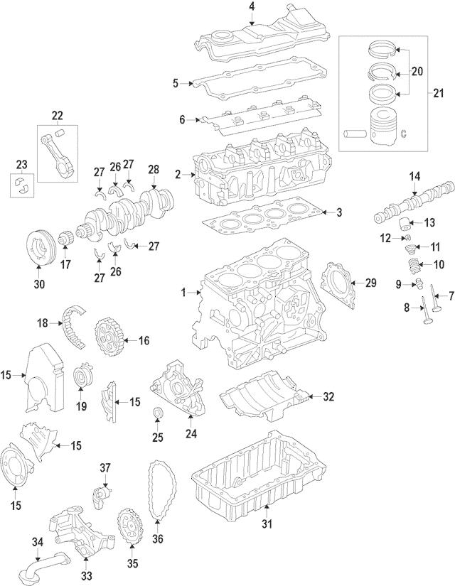 2011-2015 Volkswagen Jetta Oil Pan 06A-103-601-BC