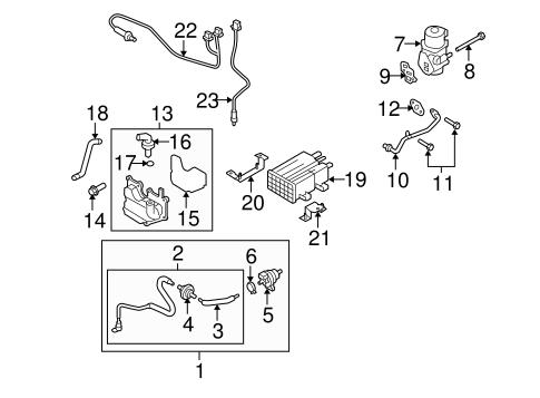 Genuine OEM Emission System Parts For 2008 Mazda CX-7