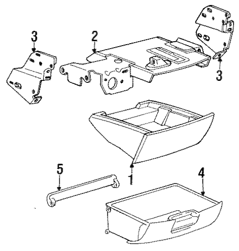 INSTRUMENT PANEL COMPONENTS for 1995 Toyota Previa