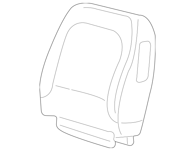 2002-2003 Buick Rendezvous Seat Back Cover 88954912