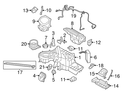 OEM 2011 Ford F-150 Evaporator & Heater Components Parts