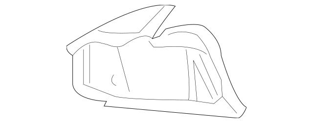 2005-2010 Chevrolet Cobalt Tail Lamp Pocket 15254611