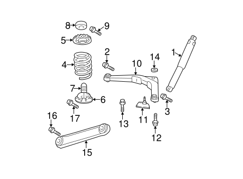 Rear Suspension for 2004 Jeep Grand Cherokee Parts