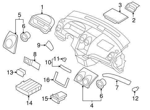 OEM 2007 Chevrolet Aveo Instrument Panel Components Parts
