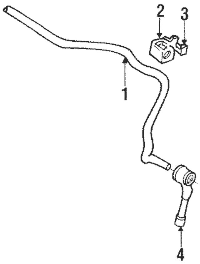 1990-1992 Volkswagen Corrado Stabilizer Bar Link 191-411