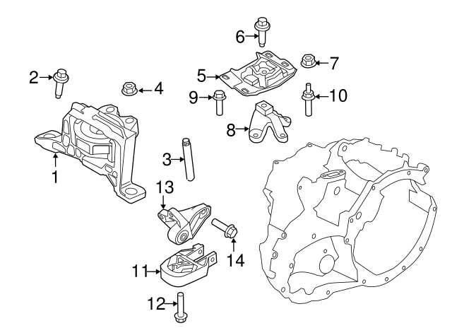 Ford Focus Engine Roll Restrictor