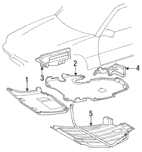 Cover & Components for 1989 Mercedes-Benz 420 SEL