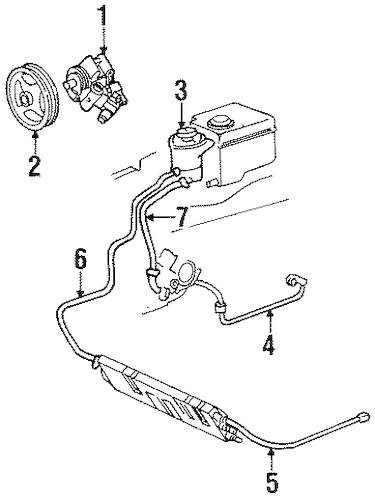 PUMP & HOSES for 1996 Lincoln Continental