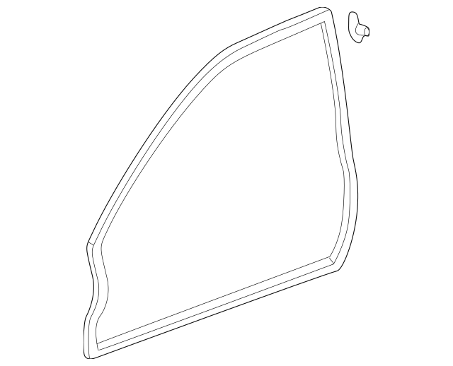2001-2005 Honda CIVIC COUPE Weatherstrip Trim Left Front