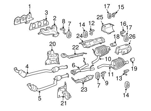Exhaust Components for 2008 Mercedes-Benz SLK 280