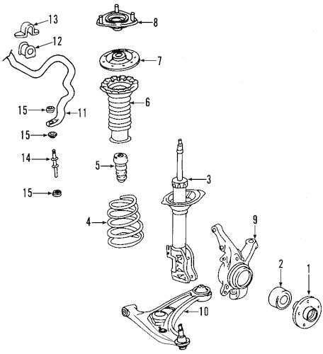 SUSPENSION COMPONENTS for 2003 Toyota Echo