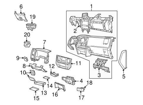 Air Bag Components for 2007 Dodge Ram 2500