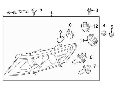 2014 Kia Optima Headlight Parts Diagram. Kia. Auto Wiring