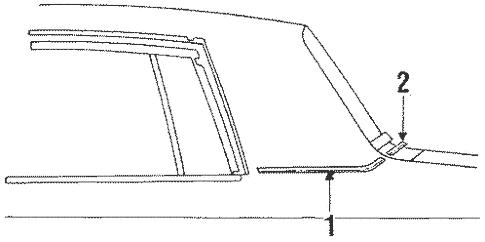 Moldings for 1986 Oldsmobile Cutlass Supreme