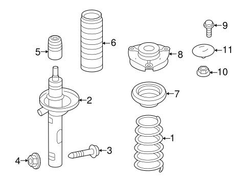 Struts & Suspension Components for 2013 Volkswagen Golf R