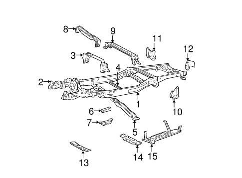 Frame & Components for 1999 Ford F-250