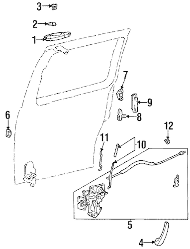 Striker Plate for 1998 Ford Windstar|F2UZ-1522024-A