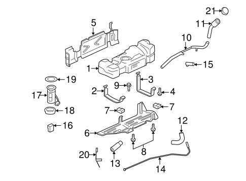 Emission Components for 2005 Chevrolet Trailblazer EXT