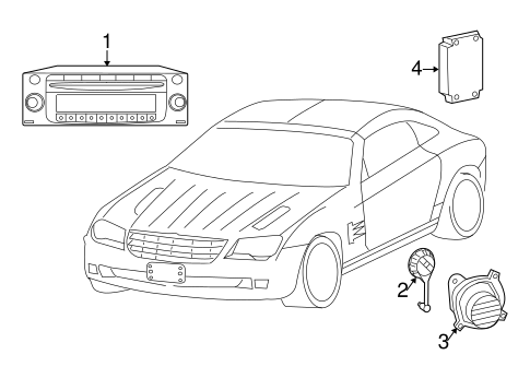 SOUND SYSTEM for 2004 Chrysler Crossfire