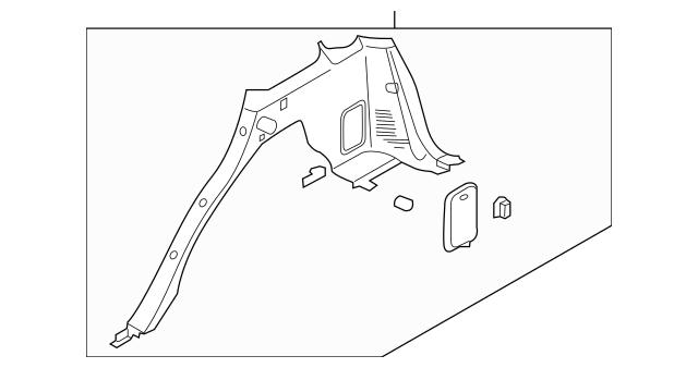 2007-2008 Kia Sorento Lower Quarter Trim 85555-3E002WK