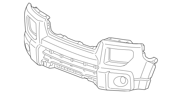 2006-2008 Honda ELEMENT 5-DOOR FACE, FRONT BUMPER [DOT