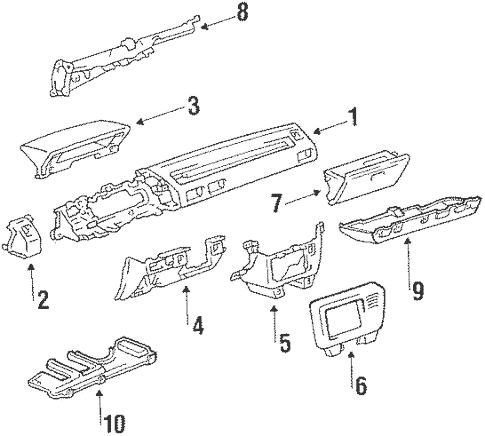 Genuine OEM Instrument Panel Parts for 1987 Toyota Corolla