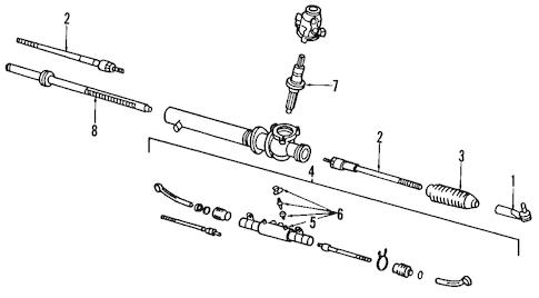 STEERING GEAR & LINKAGE for 1991 Nissan 300ZX