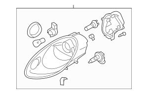 2006-2008 Porsche Cayman Headlamp Assembly 987-631-164-23