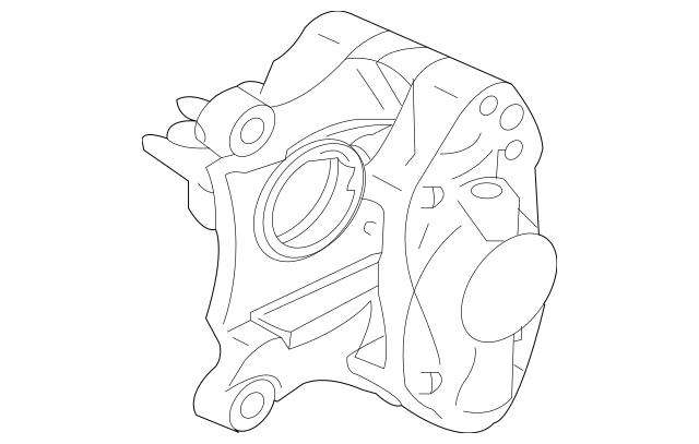 2008-2015 Mitsubishi Lancer Caliper Assembly 4605A576