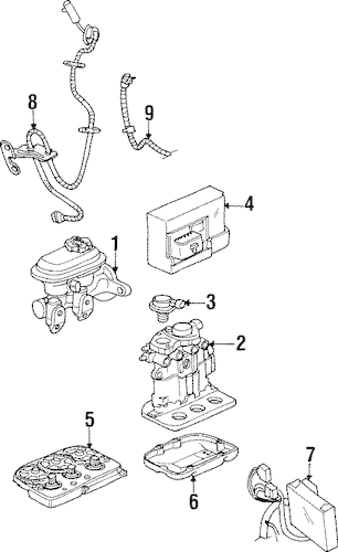 ABS COMPONENTS for 1999 Saturn SC2
