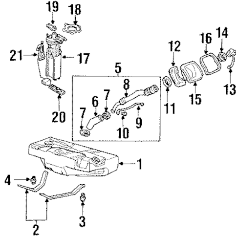 FUEL SYSTEM COMPONENTS for 2001 Oldsmobile Aurora