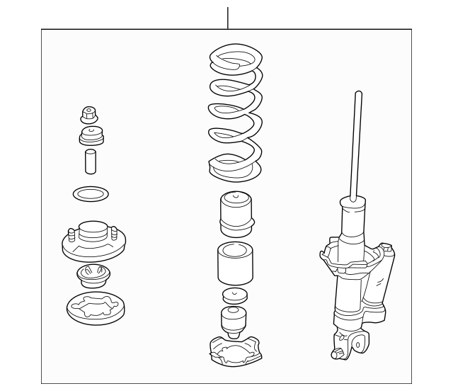 2002-2003 Honda S2000 COUPE Shock Absorber Assembly, L
