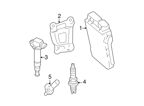 Genuine OEM Ignition Coil Parts for 2008 Toyota Yaris Base