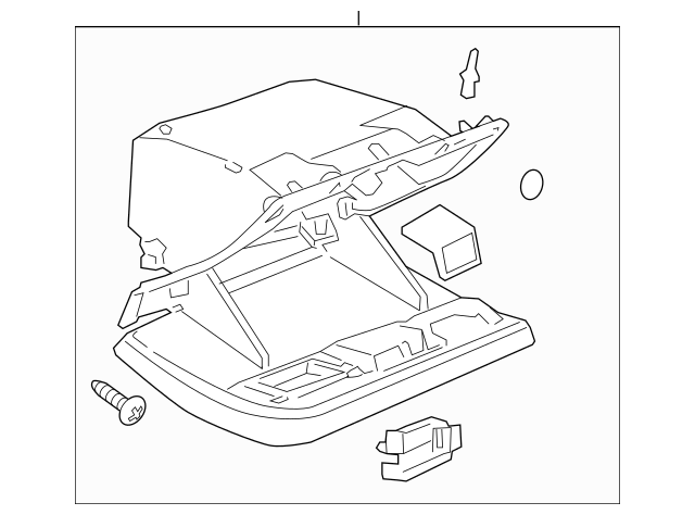 Genuine OEM 2006-2011 Cadillac DTS Glove Box Assembly