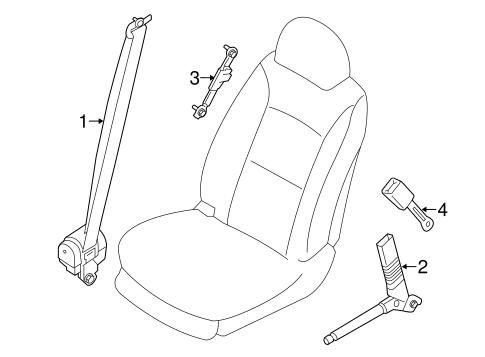 FRONT SEAT BELTS for 2015 Hyundai Santa Fe